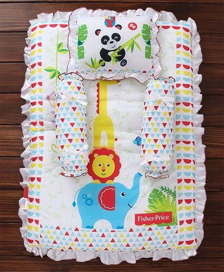 Fisher Price Mattress Set Panda & Giraffe Print Multi Colour - 4 Pieces