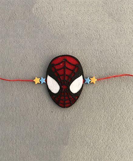 Kalacaree Super Man Theme Rakhi - Red