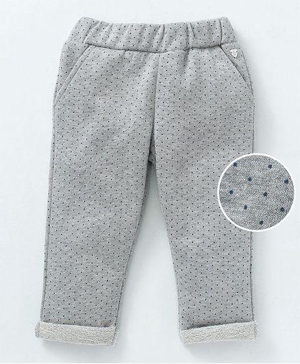 Babyoye Full Length Lounge Pant Dots Print - Grey