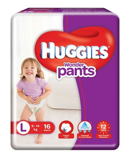 Huggies Wonder Pants Style L Diapers (16 Pieces)