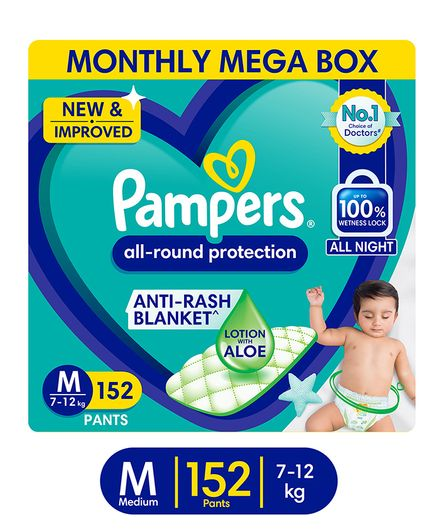 Pampers Pants Monthly Mega Box M Diapers (152 Pieces)