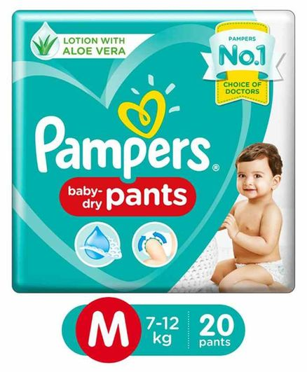 Pampers Air Channels Pants M Diapers (20 Pieces)