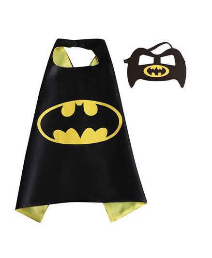 Party Anthem Super Hero Cape and Mask- Black