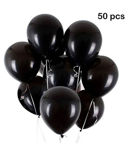 Balloon Junction Metallic Balloons Black - 50 Pieces