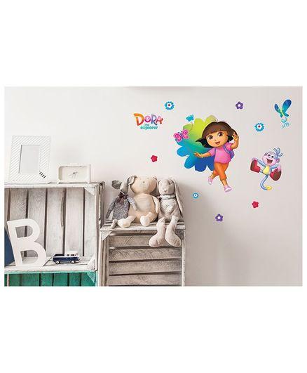 Asian Paints Dora & Monkey Wall Sticker Multi Color - Large