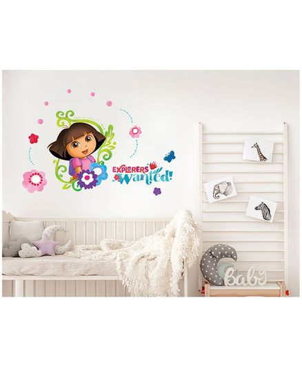 Asian Paints Dora Explorers Wanted Wall Sticker Multi Color - XL