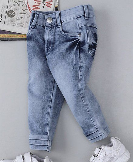 d1b3fad0acb Buy Babyhug Full Length Denim Jeans Light Blue for Girls (18-24 ...