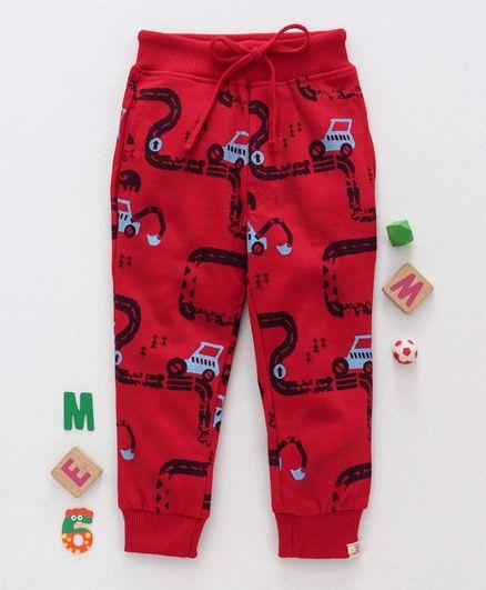 Olio Kids Full Length Lounge Pant Car Print - Red