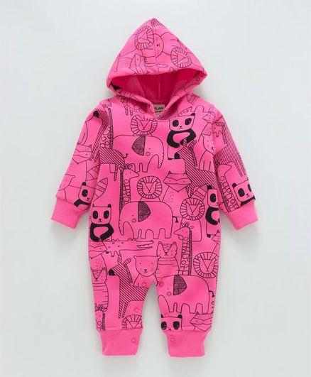 3f08cea77 Buy Little Kangaroos Full Sleeves Winter Wear Romper Animals Print ...