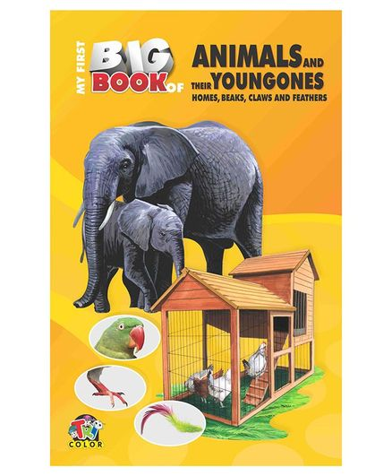 My First Big Book Animals & Their Young Ones - Yellow