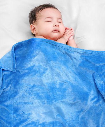 Babyhug Coral Blanket - Aqua Blue