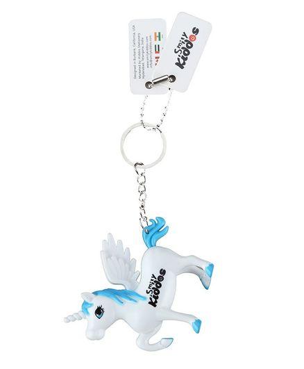 Smilykiddos Unicorn Key Chain - White & Blue
