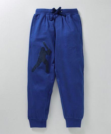 KiddoPanti Full Length Sports Jogger - Blue