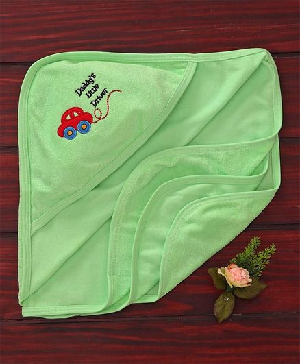 Simply Hooded Towel Car Patch - Green