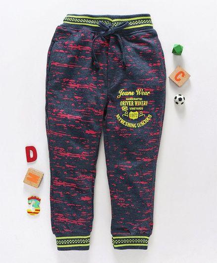 Olio Kids Full Length Lounge Pant - Dark Blue Pink