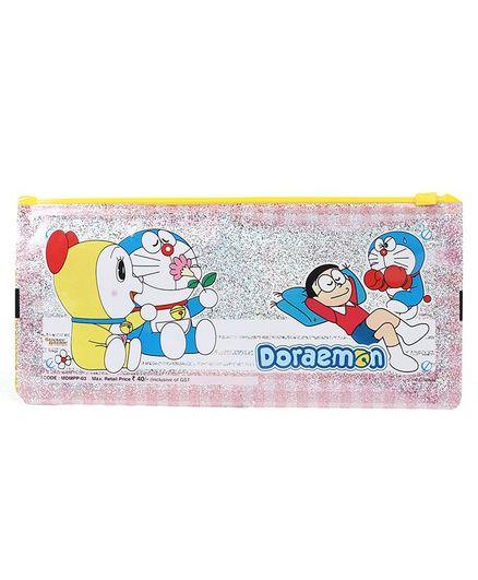 Doraemon Sparkle Pencil Pouch - Yellow