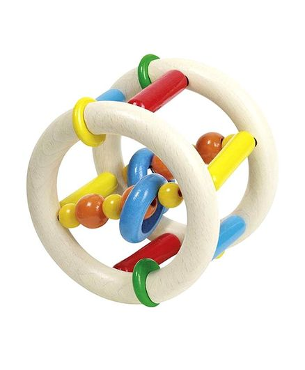 Heimess Ring Roller Rattle & Teether - Multicolour
