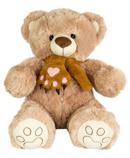 Dhoom Soft Toys Teddy Bear With Muffler Light Brown Height 40 cm ...