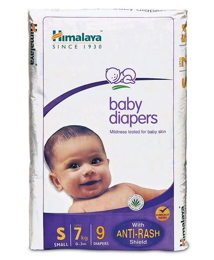 Himalaya Herbal Total Care Baby Diapers Small - 9 Pieces