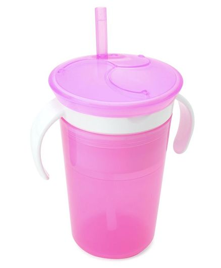 Munchkin 2 in 1 SnackCatch & Sip Cup Pink - 266 ml