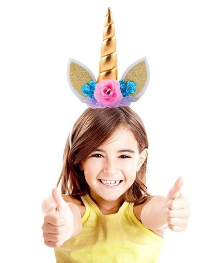 Party Propz Magical Unicorn Head Gear - Multicolour