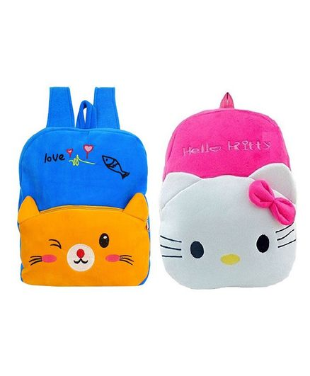 1fb49446a18 Frantic Velvet Yellow Cat   Hello Kitty Nursery Bag Pack of 2 - Height 14  inches