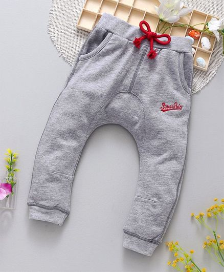 ToffyHouse Diaper Leggings Superpolo Embroidered - Light Grey