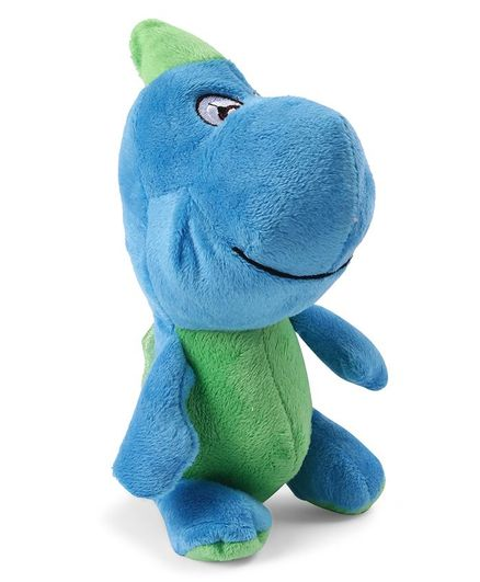 0a14a911896a My Baby Excels Dinosaur Plush Soft Toy Blue   Green Height 19 cm ...