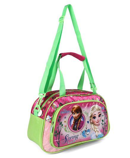 Disney Princess Frozen Duffle Bag Green & Pink - Height 8.2 inches
