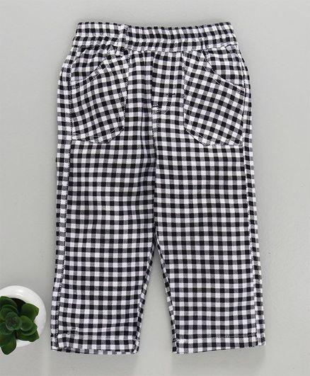Child World Full Length Checks Lounge Pants - Black