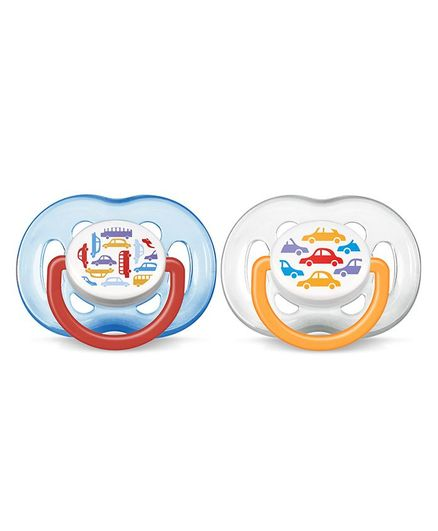 Avent Orthodontic Free Flow Soothers Pack of 2 - Blue & White