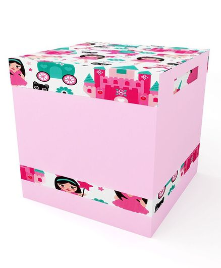 Fancy Fluff Storage Box With Lid - Pink