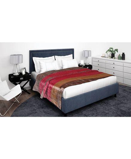 Athom Trendz Striped Premium Double Blanket - Multi Color