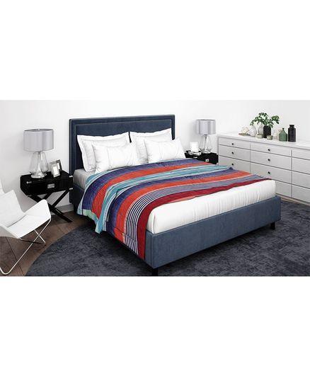 Athom Trendz Premium Double Blanket Stripes Pattern - Multi Color