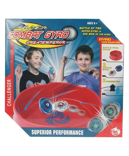 Planet of Toys Spinning Gyro Beyblade Set With Stadium - Multicolour