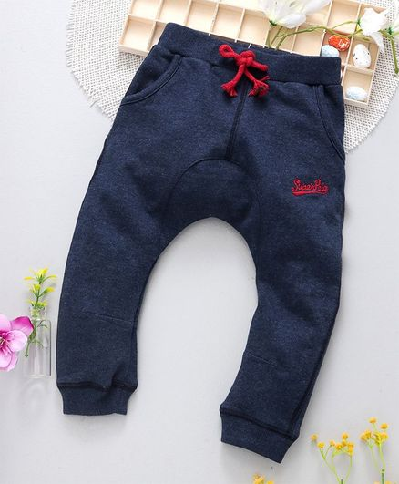 ToffyHouse Diaper Leggings Superpolo Embroidered - Dark Blue