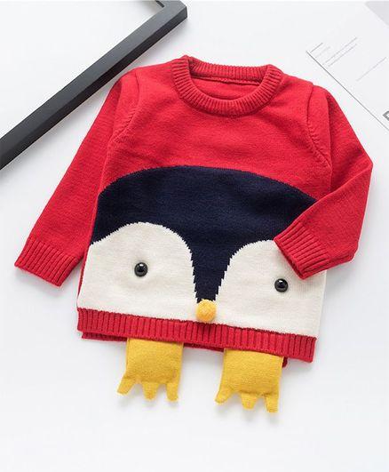 Awabox Duck Theme Sweater - Red