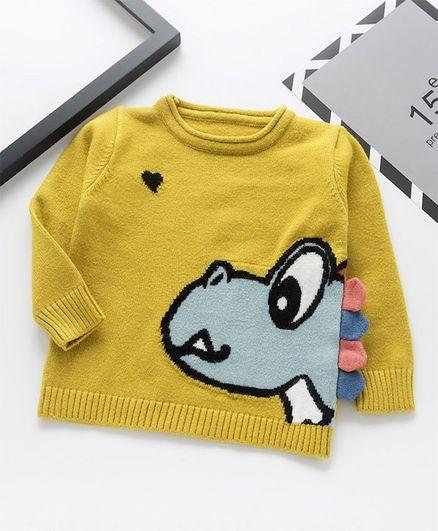 Awabox Animal Face Print Sweater - Yellow