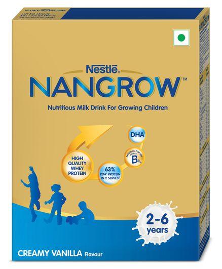 Nestle NangrowNutritious Milk Drink For Growing Children 2-5 years Creamy Vanilla 400 gm Bag-In-Box Pack