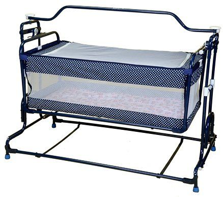 Mothertouch Dot Print Deluxe Compact Cradle - Navy White