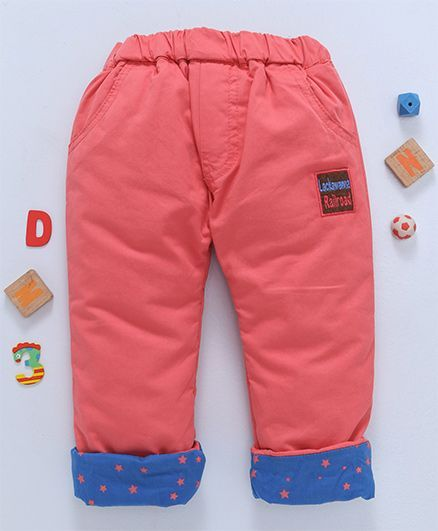Olio Kids Full Length Thermal Bottoms - Coral