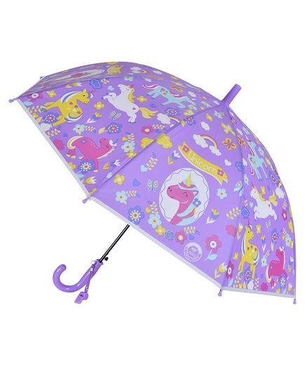 Smartcraft Unicorn Print Kids Umbrella - Purple