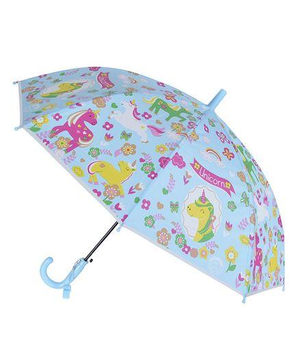 Smartcraft Unicorn Print Kids Umbrella - Blue