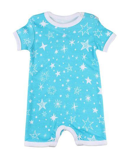 58a068ef015b Morisons Baby Dreams Short Sleeves Romper Star Print - Aqua Blue