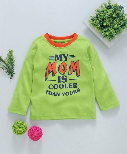 Babyhug Full Sleeves Tee Mom Print - Green