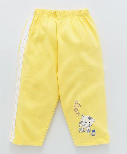 Tango Full Length Track Pant Bear Print - Yellow