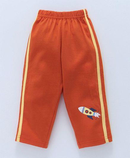 Tango Full Length Lounge Pant Rocket Print - Orange