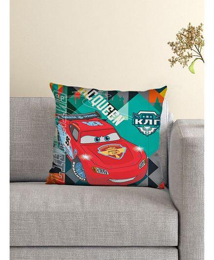 Athom Trendz Disney Cushion And Cover Pixar Cars Print - Multicolour