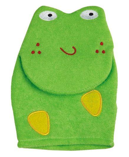 Panache Frog Shaped Baby Bath Glove - Green