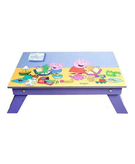 Li'll Pumpkins Folding Study Table Peppa Pig Print - Blue